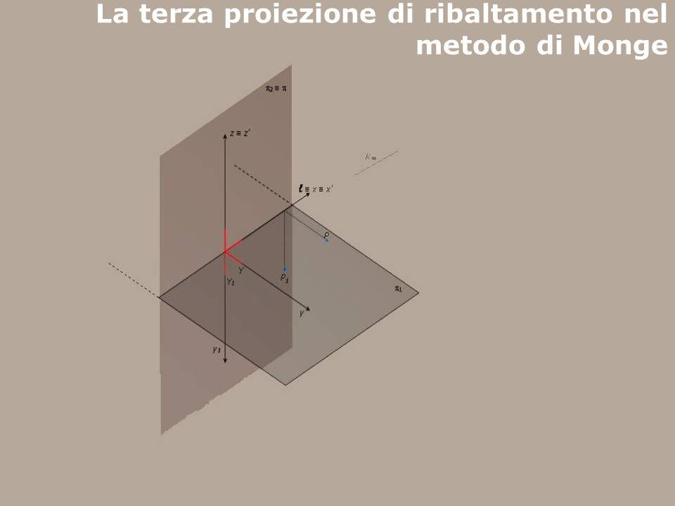F. Gay – corso di fondamenti e applicazioni di geometria descrittiva aa. 2007 - 2008 La terza proiezione di ribaltamento nel metodo di Monge