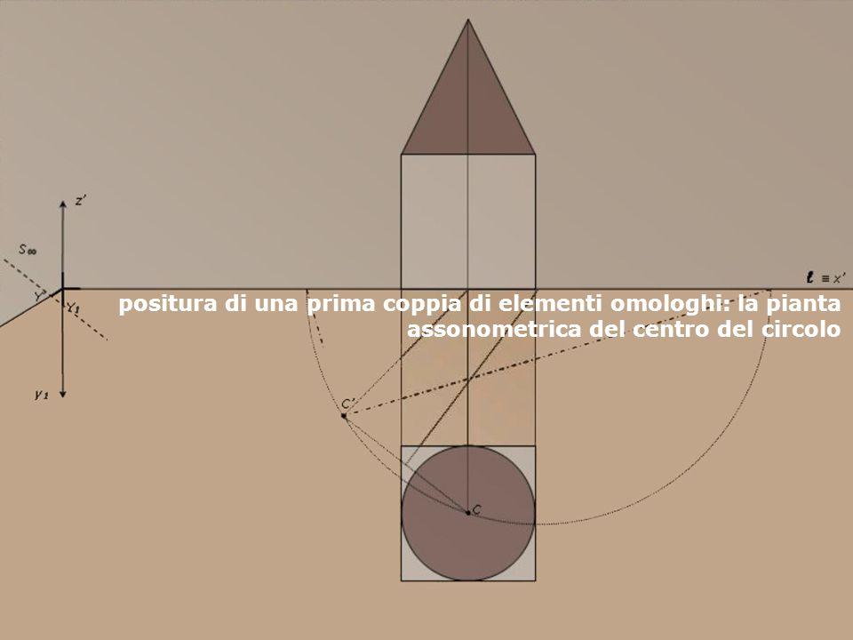 F. Gay – corso di fondamenti e applicazioni di geometria descrittiva aa. 2007 - 2008 positura di una prima coppia di elementi omologhi: la pianta asso