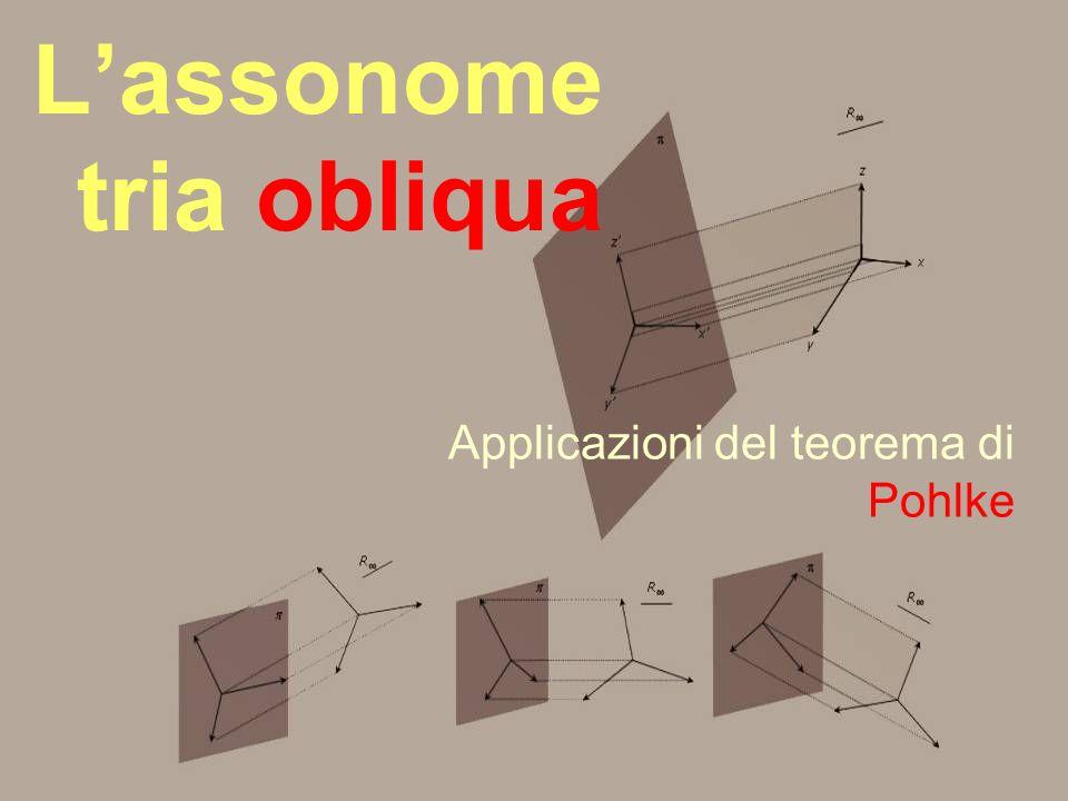 Lassonome tria obliqua Applicazioni del teorema di Pohlke