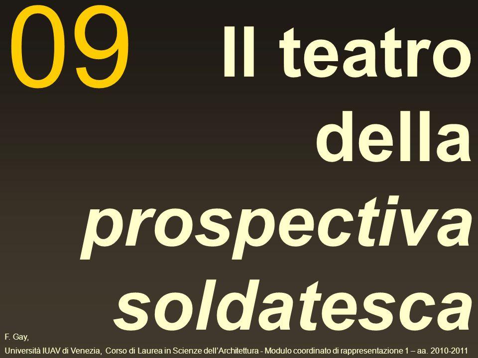 F. Gay, Università IUAV di Venezia, Corso di Laurea in Scienze dellArchitettura - Modulo coordinato di rappresentazione 1 – aa. 2010-2011 Il teatro de