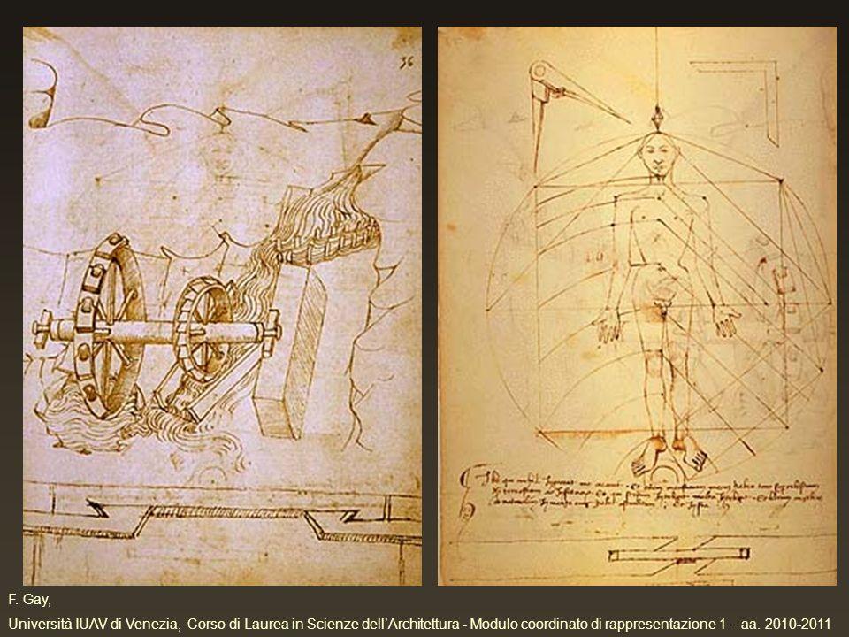 F. Gay, Università IUAV di Venezia, Corso di Laurea in Scienze dellArchitettura - Modulo coordinato di rappresentazione 1 – aa. 2010-2011