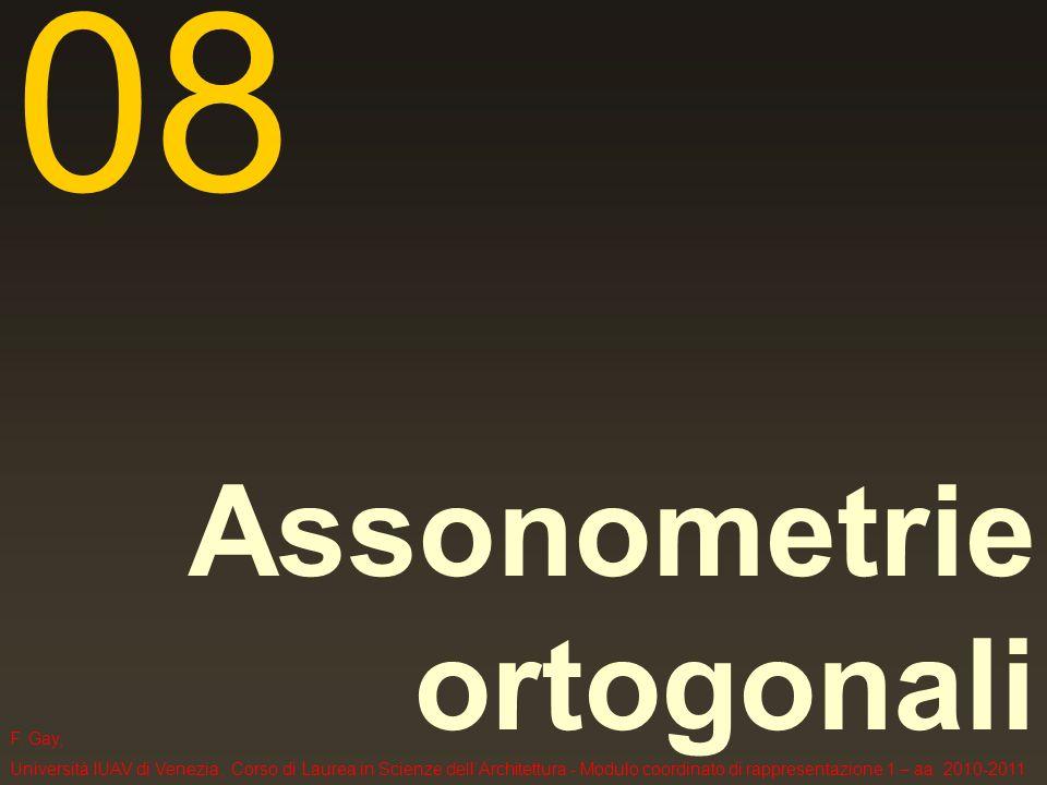 Metodi di rappresentazione in proiezione parallela 1- le assonometrie ortogonali 1.