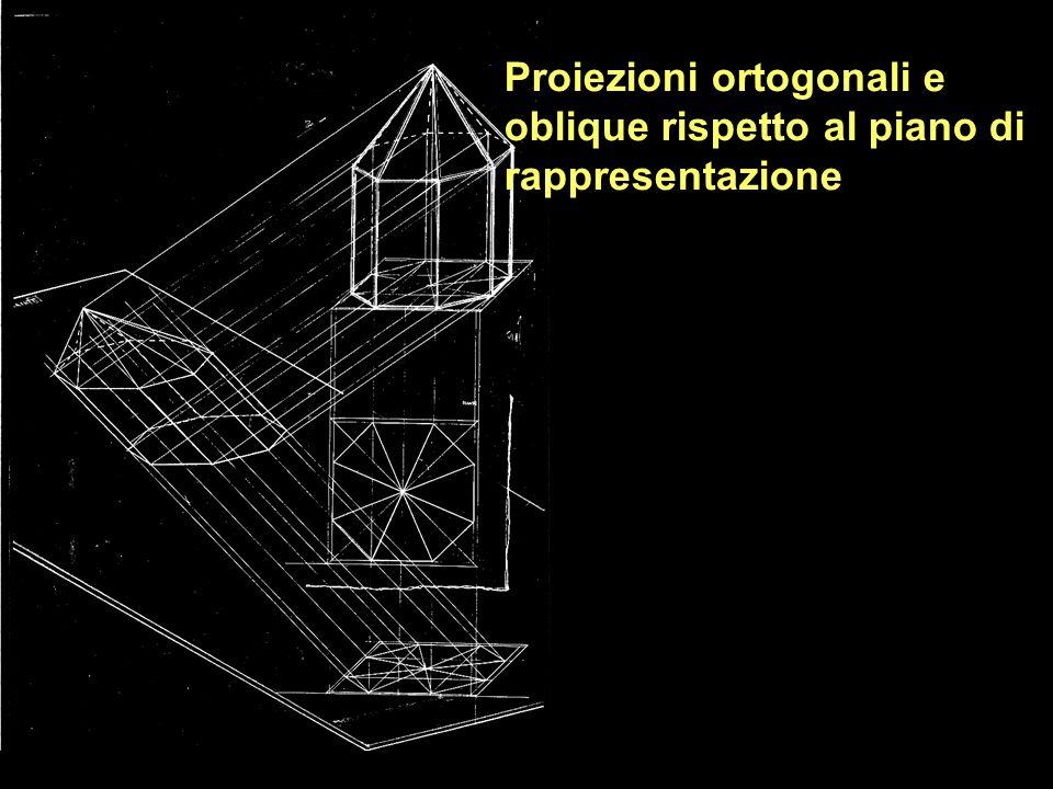 Proiezioni ortogonali e oblique rispetto al piano di rappresentazione