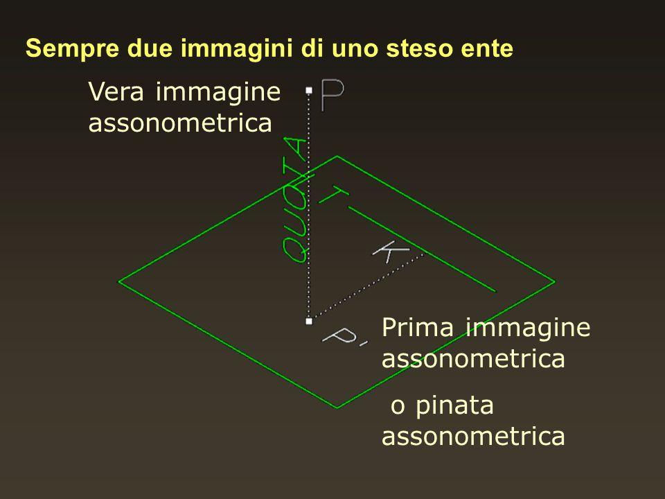 Vera immagine assonometrica Prima immagine assonometrica o pinata assonometrica Sempre due immagini di uno steso ente