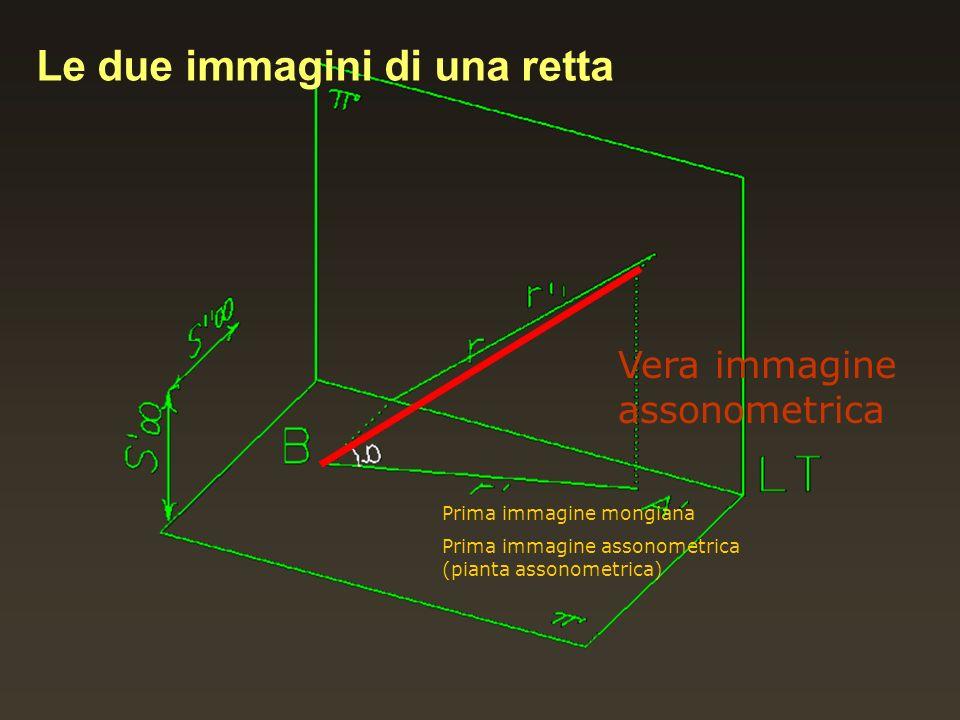 Vera immagine assonometrica Prima immagine mongiana Prima immagine assonometrica (pianta assonometrica) Le due immagini di una retta