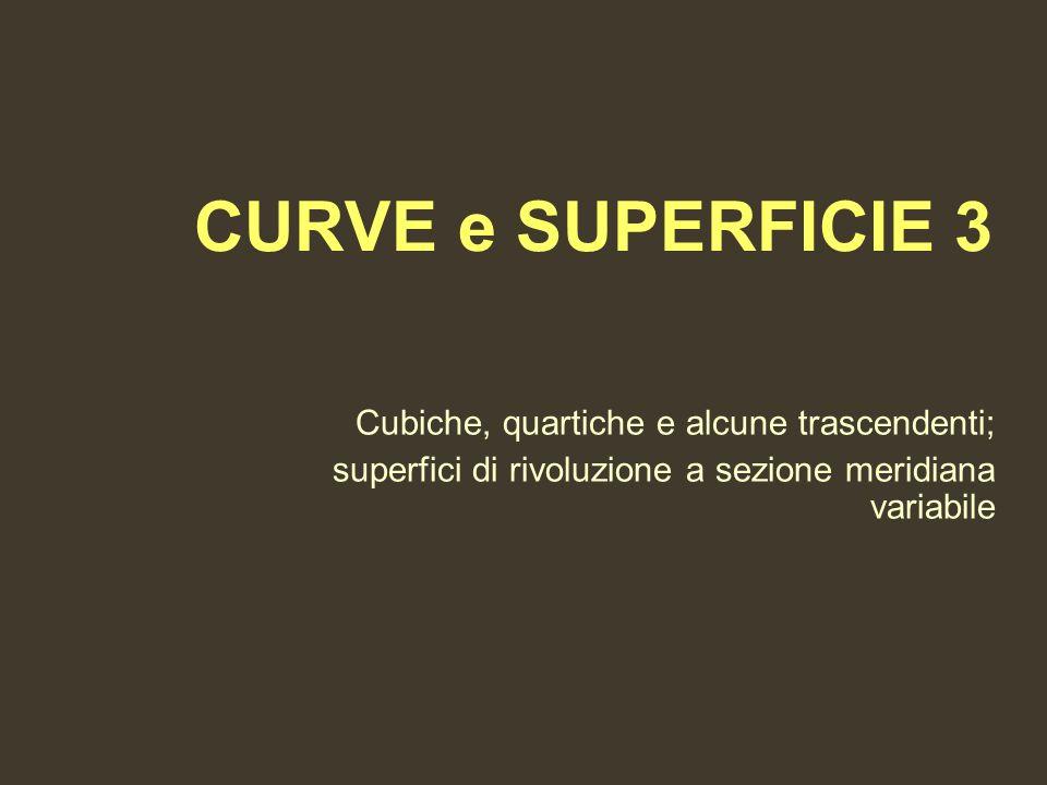 CURVE e SUPERFICIE 3 Cubiche, quartiche e alcune trascendenti; superfici di rivoluzione a sezione meridiana variabile