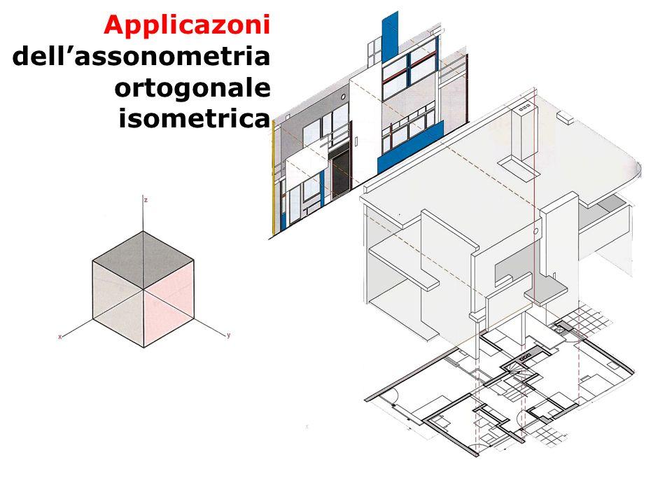 F. Gay – corso di fondamenti e applicazioni di geometria descrittiva aa. 2008-2009 Applicazoni dellassonometria ortogonale isometrica