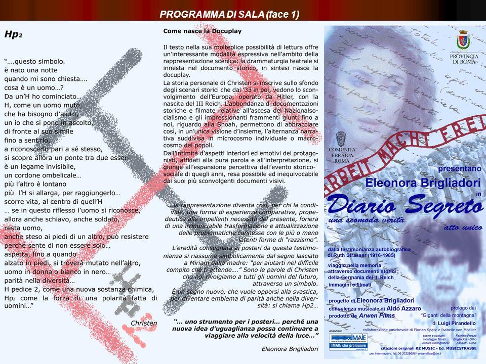 PROGRAMMA DI SALA (face 1)