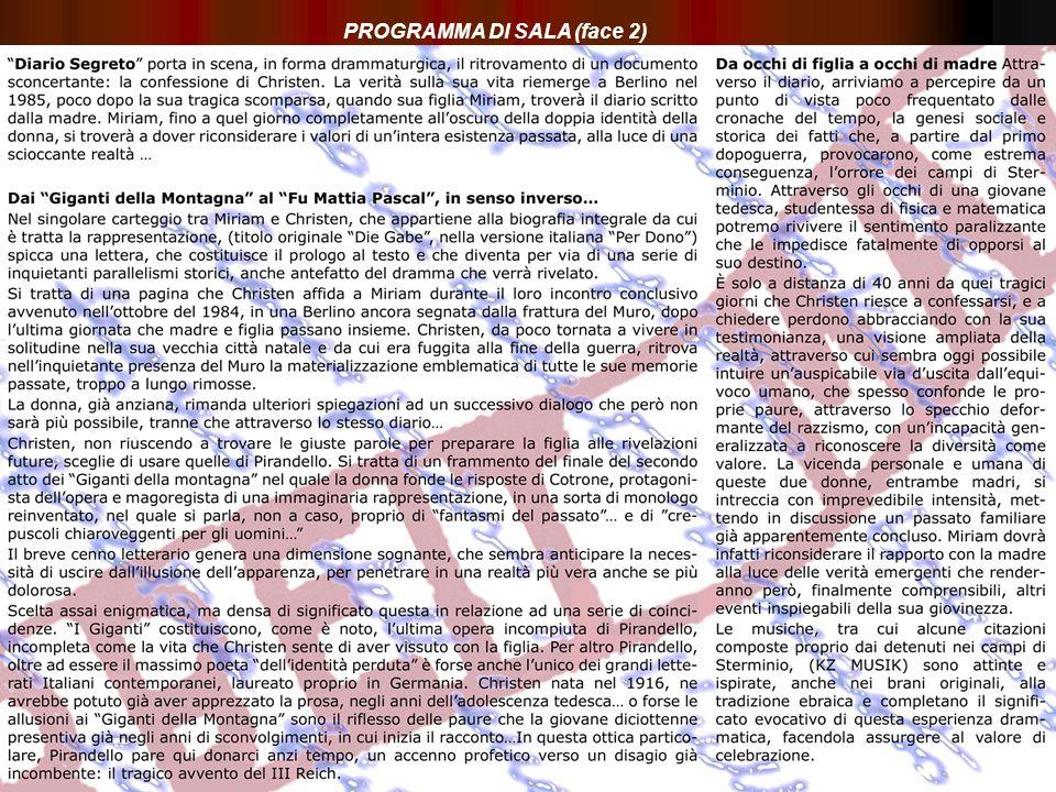 PROGRAMMA DI SALA (face 2)