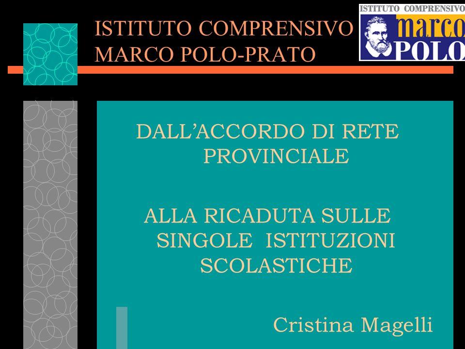ISTITUTO COMPRENSIVO MARCO POLO-PRATO DALLACCORDO DI RETE PROVINCIALE ALLA RICADUTA SULLE SINGOLE ISTITUZIONI SCOLASTICHE Cristina Magelli