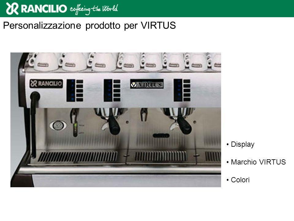 Personalizzazione prodotto per VIRTUS Display Marchio VIRTUS Colori