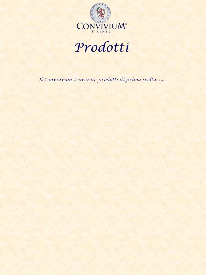 Prodotti Il Conviuvum troverete prodotti di prima scelta.....