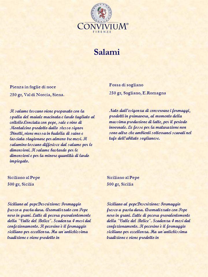 Salami Pienza in foglie di noce 250 gr, Val di Norcia, Siena.
