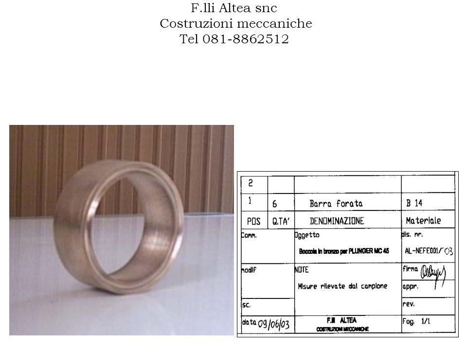 F.lli Altea snc Costruzioni meccaniche Tel 081-8862512