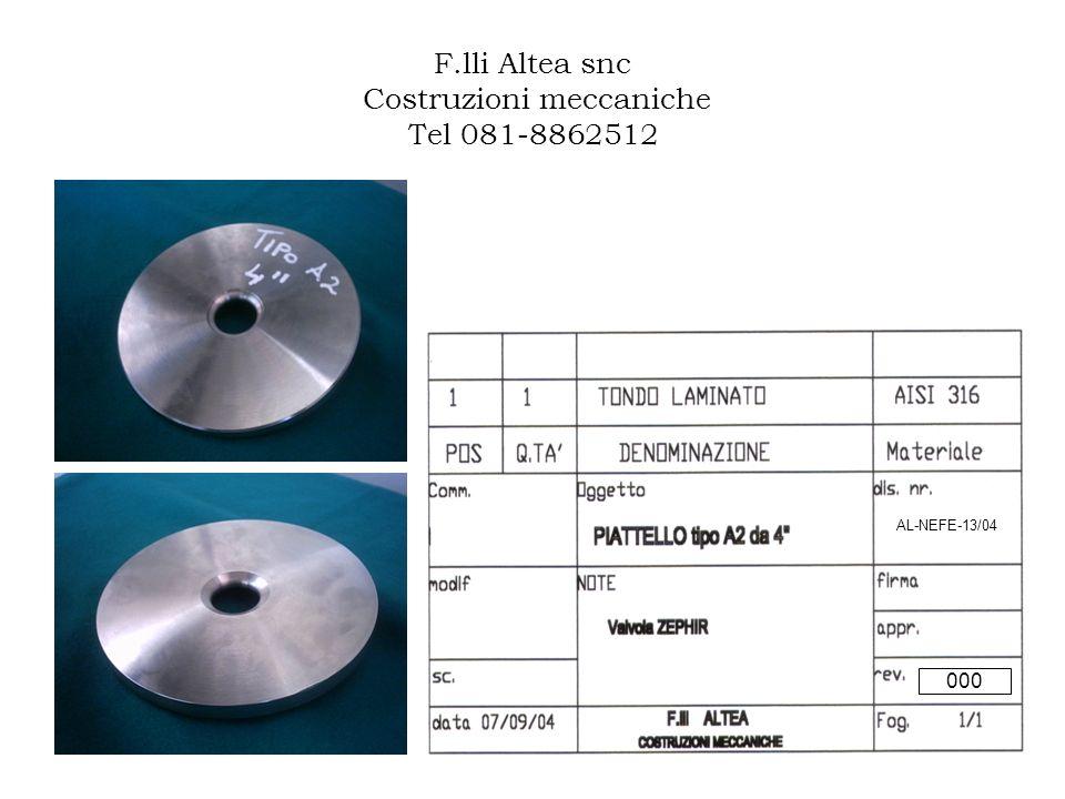 F.lli Altea snc Costruzioni meccaniche Tel 081-8862512 AL-NEFE-13/04 000