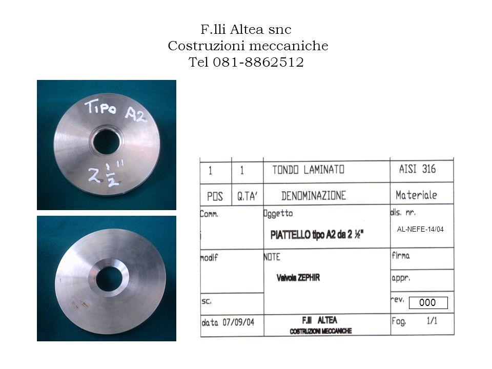 F.lli Altea snc Costruzioni meccaniche Tel 081-8862512 AL-NEFE-14/04 000