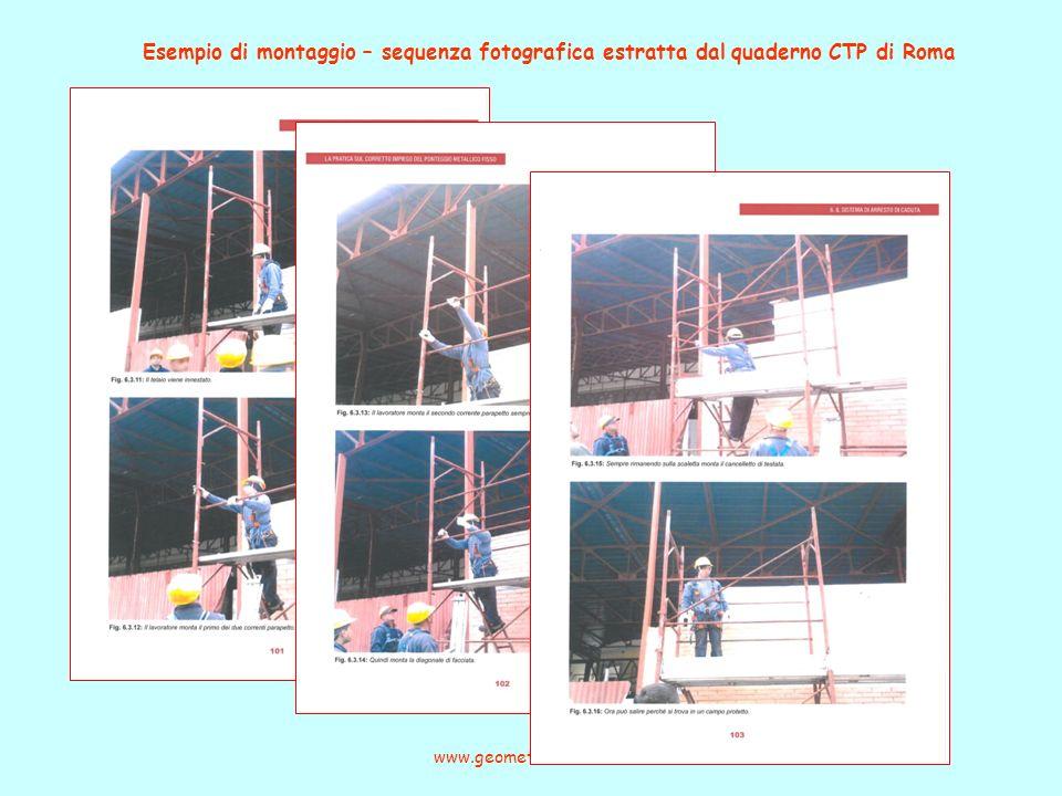 Esempio di montaggio – sequenza fotografica estratta dal quaderno CTP di Roma www.geometracerioni.it