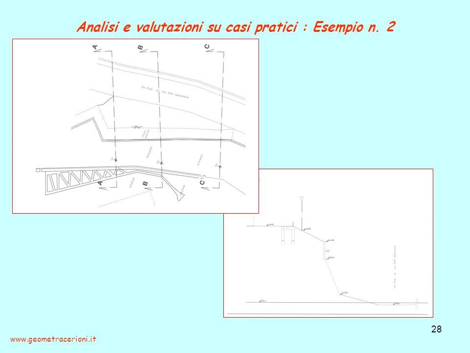 Analisi e valutazioni su casi pratici : Esempio n. 2 28 www.geometracerioni.it