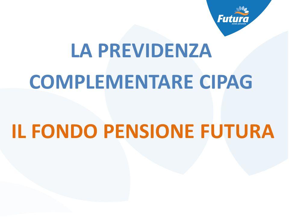 IL FONDO PENSIONE FUTURA LA PREVIDENZA COMPLEMENTARE CIPAG