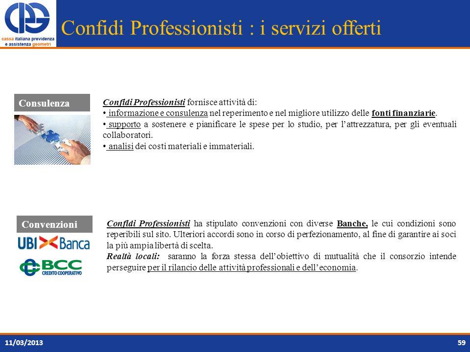 Confidi Professionisti : i servizi offerti Confidi Professionisti fornisce attività di: informazione e consulenza nel reperimento e nel migliore utili