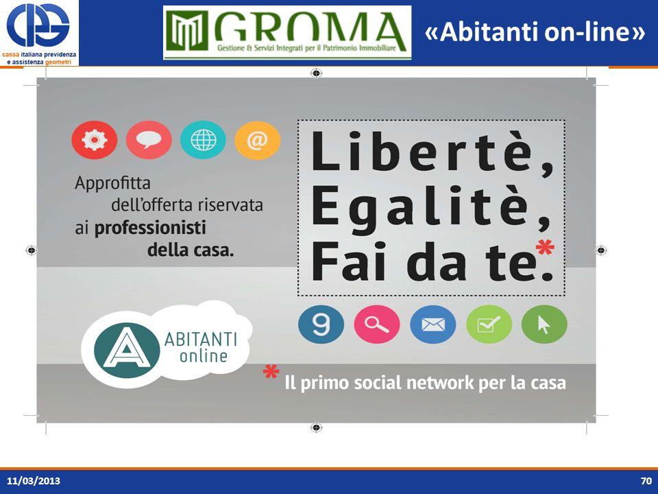 «Abitanti on-line» 7011/03/2013