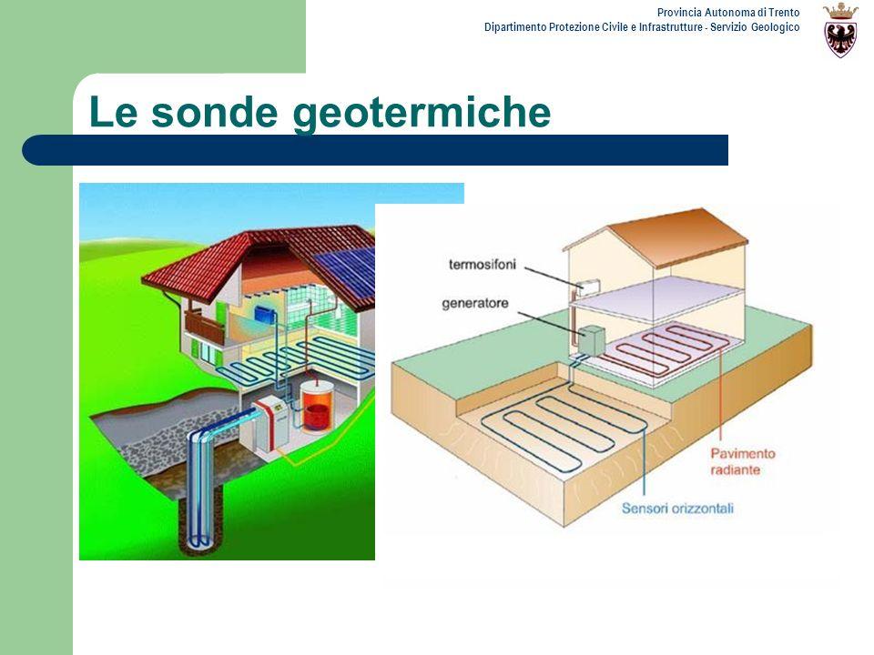 Provincia Autonoma di Trento Dipartimento Protezione Civile e Infrastrutture - Servizio Geologico Le sonde geotermiche