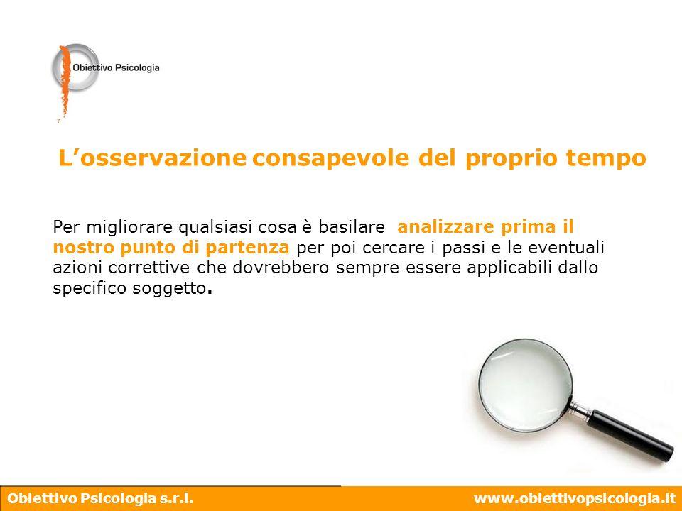 Obiettivo Psicologia s.r.l.www.obiettivopsicologia.it Per migliorare qualsiasi cosa è basilare analizzare prima il nostro punto di partenza per poi ce