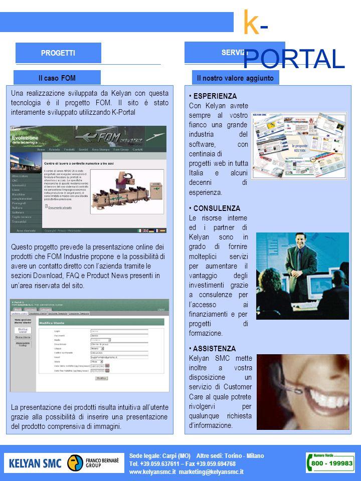 Sede legale: Carpi (MO) Altre sedi: Torino - Milano Tel. +39.059.637611 – Fax +39.059.694768 www.kelyansmc.it marketing@kelyansmc.it SERVIZI PROGETTI