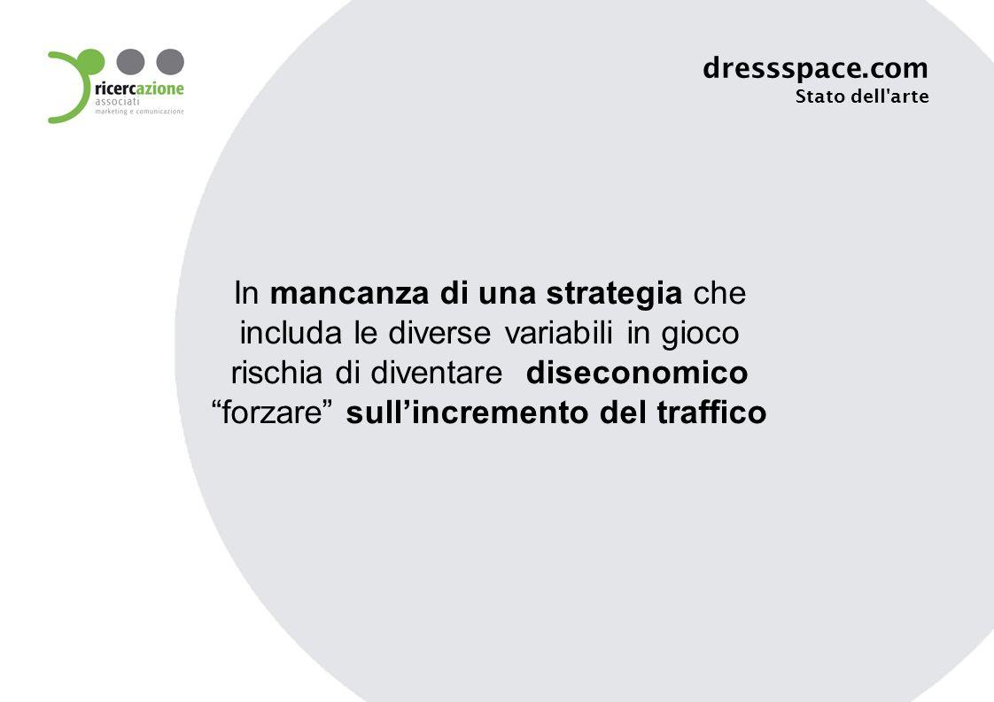In mancanza di una strategia che includa le diverse variabili in gioco rischia di diventare diseconomico forzare sullincremento del traffico dressspace.com Stato dell arte