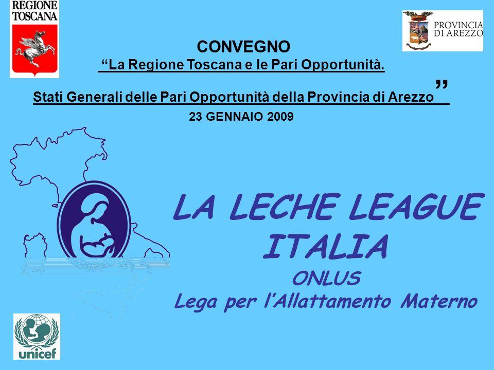 LA LECHE LEAGUE ITALIA ONLUS Lega per lAllattamento Materno CONVEGNO La Regione Toscana e le Pari Opportunità. Stati Generali delle Pari Opportunità d