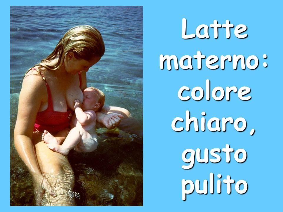 Latte materno: colore chiaro, gusto pulito