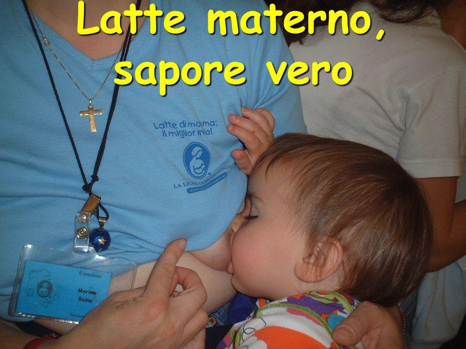 Latte materno, sapore vero