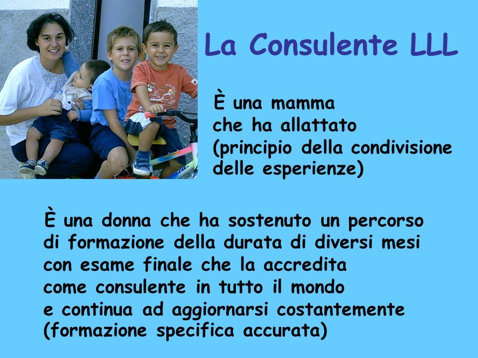 La Consulente LLL È una donna che ha sostenuto un percorso di formazione della durata di diversi mesi con esame finale che la accredita come consulent