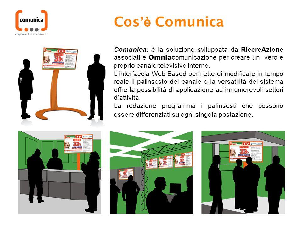 Comunica: è la soluzione sviluppata da RicercAzione associati e Omnia comunicazione per creare un vero e proprio canale televisivo interno.