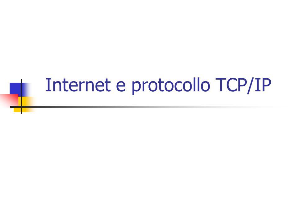 Internet e protocollo TCP/IP