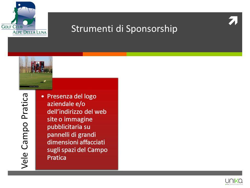 Vele Campo Pratica Presenza del logo aziendale e/o dellindirizzo del web site o immagine pubblicitaria su pannelli di grandi dimensioni affacciati sug