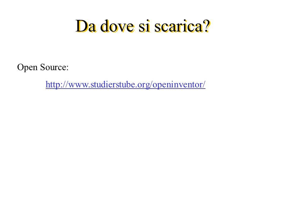 Da dove si scarica Open Source: http://www.studierstube.org/openinventor/