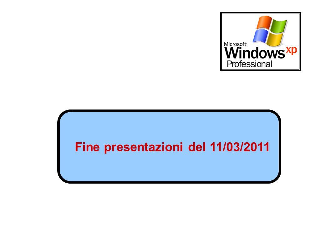 Fine presentazioni del 11/03/2011