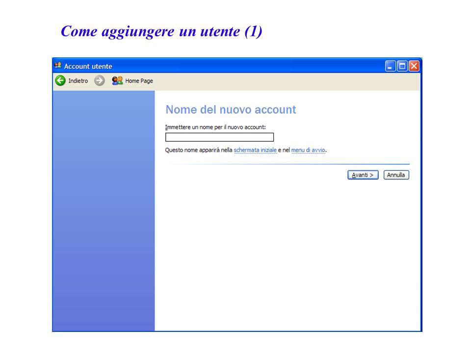 Come aggiungere un utente (1)