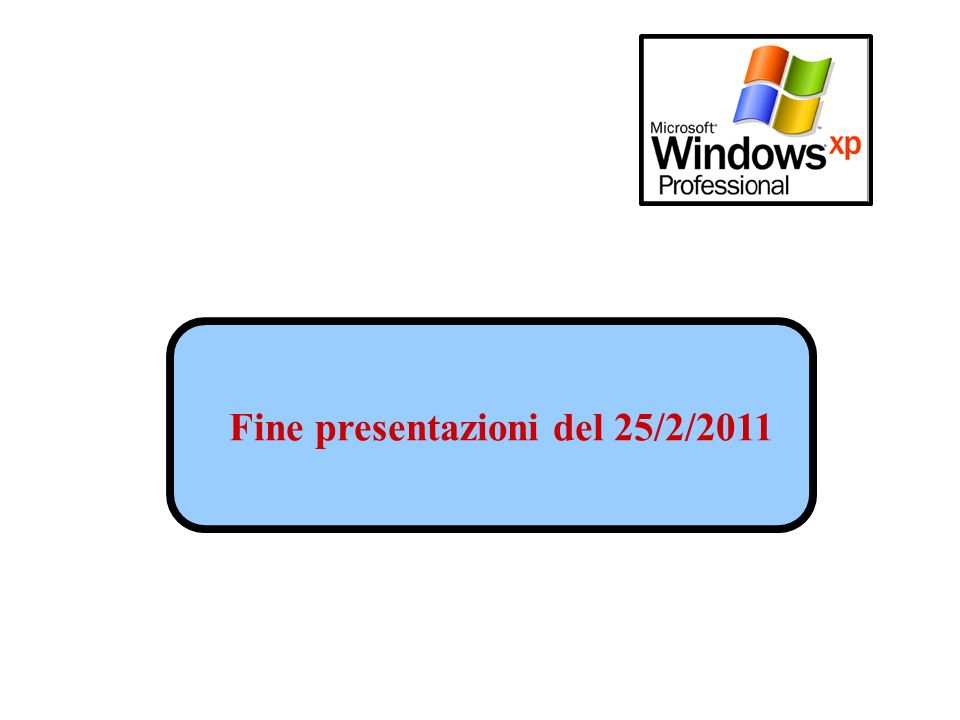 Fine presentazioni del 25/2/2011