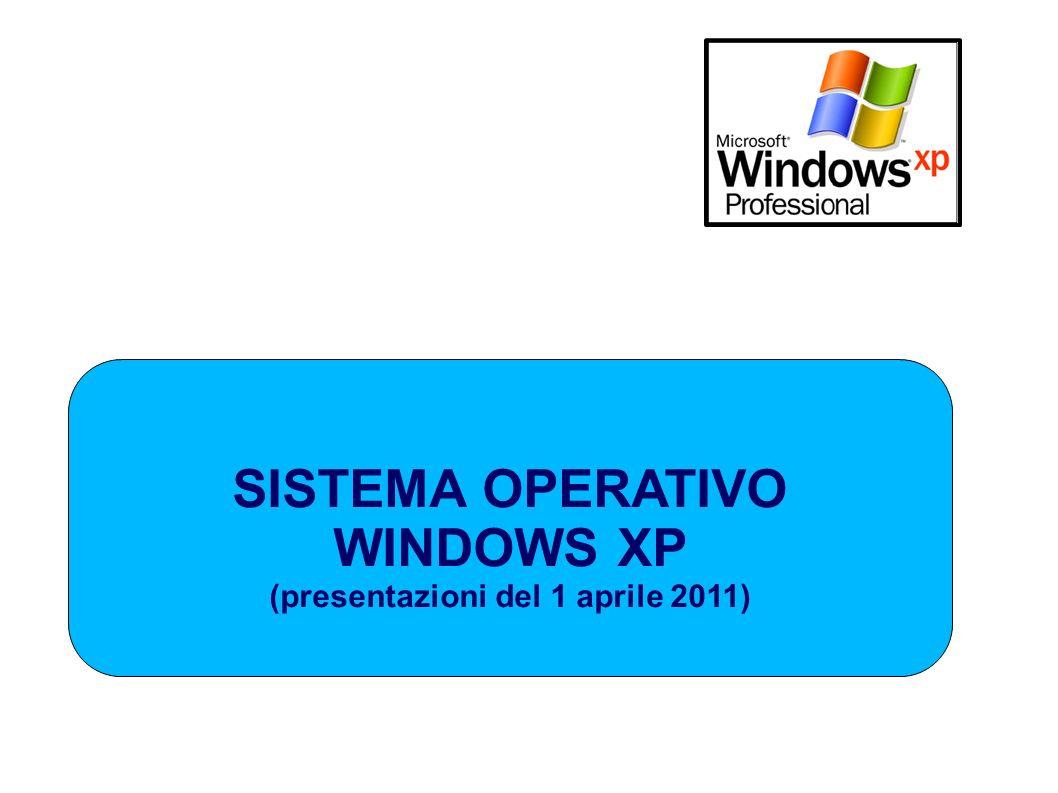 SISTEMA OPERATIVO WINDOWS XP (presentazioni del 1 aprile 2011)