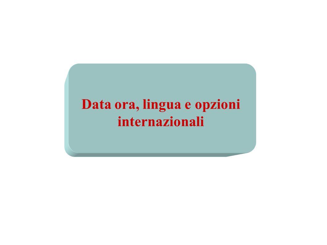 Data ora, lingua e opzioni internazionali