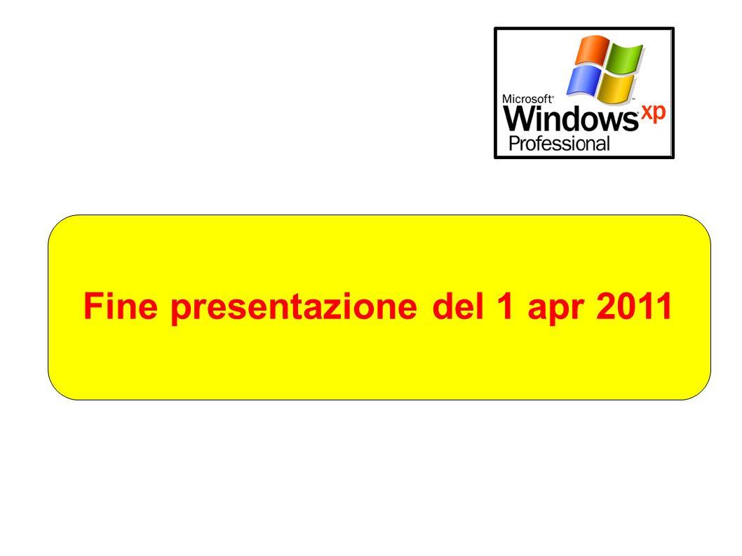 Fine presentazione del 1 apr 2011