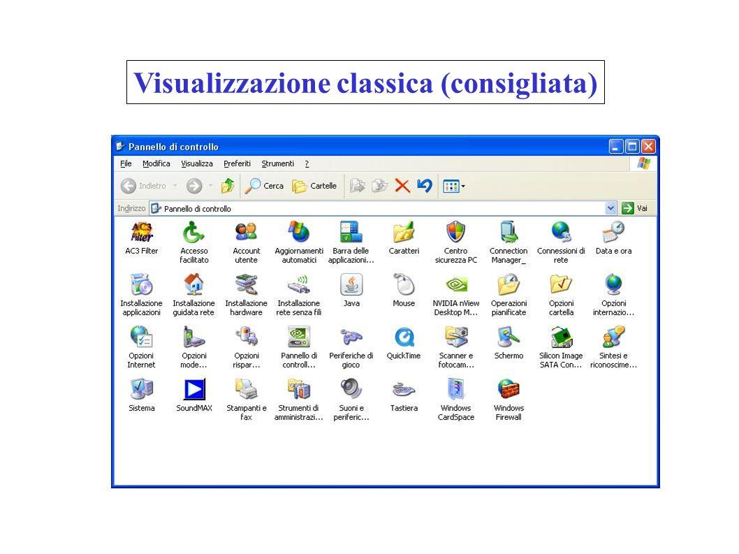 Visualizzazione classica (consigliata)