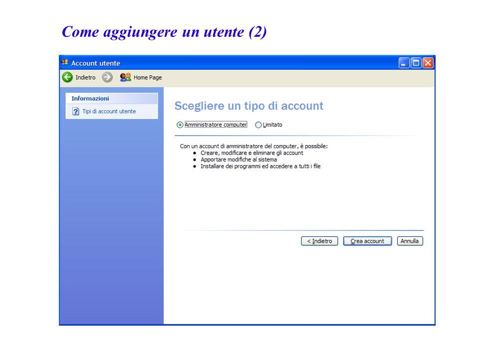 Come aggiungere un utente (2)