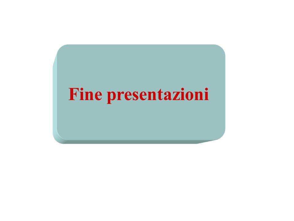 Fine presentazioni