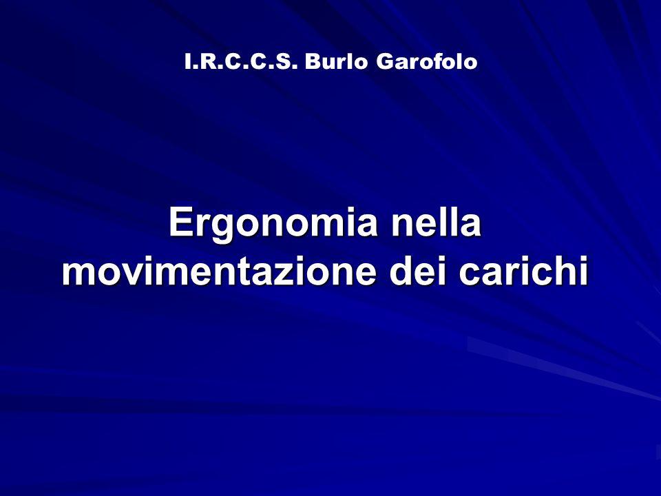 Ergonomia nella movimentazione dei carichi I.R.C.C.S. Burlo Garofolo