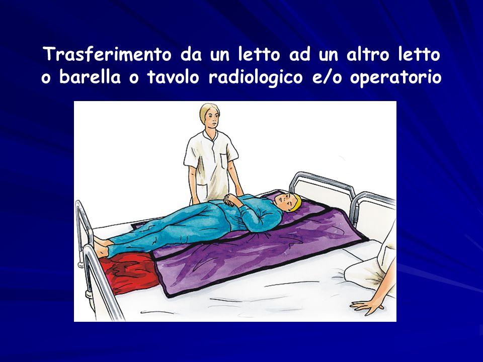 Trasferimento da un letto ad un altro letto o barella o tavolo radiologico e/o operatorio