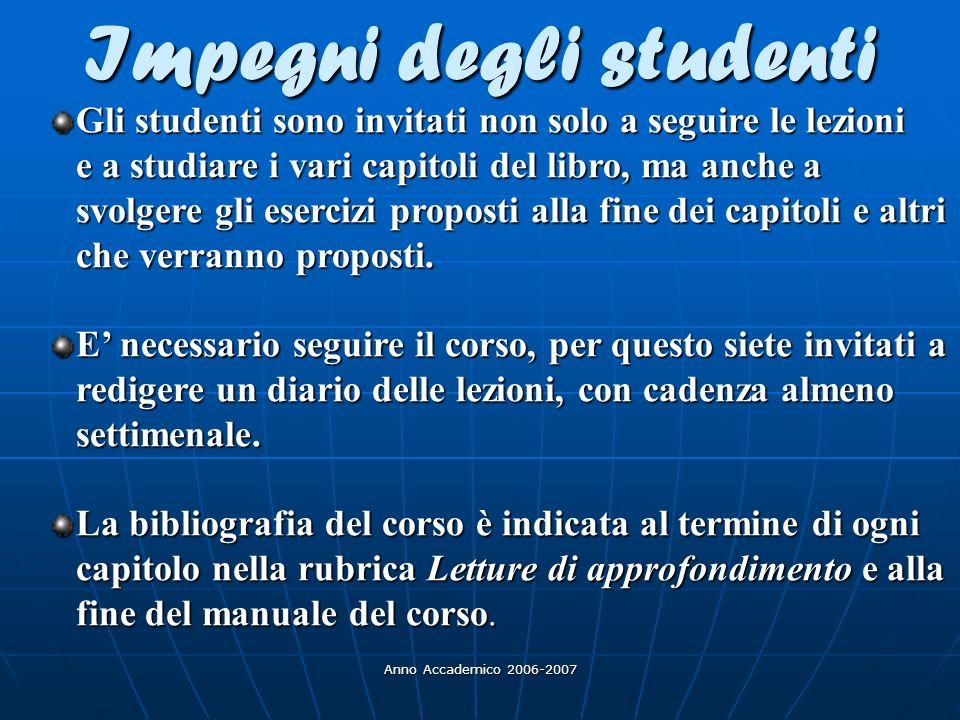 Anno Accademico 2006-2007 C.Dede (2005): C.