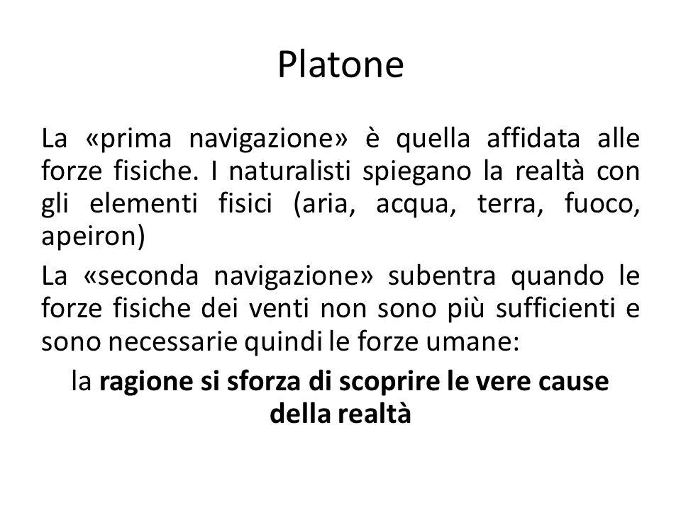 Platone La «prima navigazione» è quella affidata alle forze fisiche.